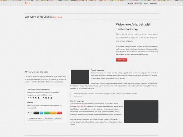 <span>Artix – An Impressive Business HTML Theme</span><i>→</i>