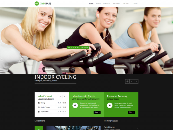 <span>Gymbase – A Responsive Fitness Club HTML Theme</span><i>→</i>