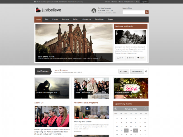 <span>JustBelieve – A Spiritual Church HTML Theme</span><i>→</i>