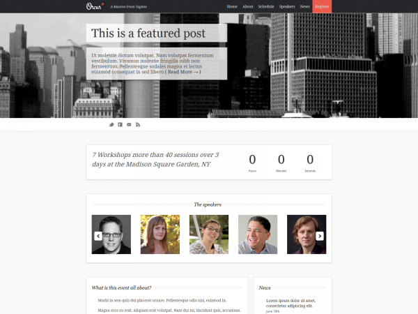 <span>Orcur – A Responsive HTML Events Theme</span><i>→</i>