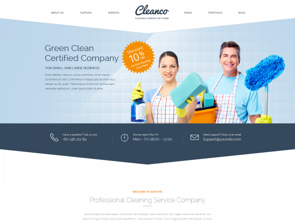 <span>Cleanco – A theme for Cleaning Companies</span><i>→</i>