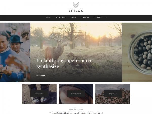 <span>Epilog – A Blogging Theme</span><i>→</i>